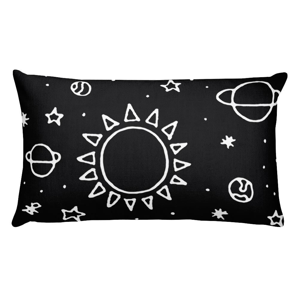 Planets Hand Drawn Rectangular Pillow - Hipsters Wonderland - Tumblr Clothing - Tumblr Accessories- Aesthetic Clothing - Aesthetic Accessories - Hipster's Wonderland - Hipsterswonderland
