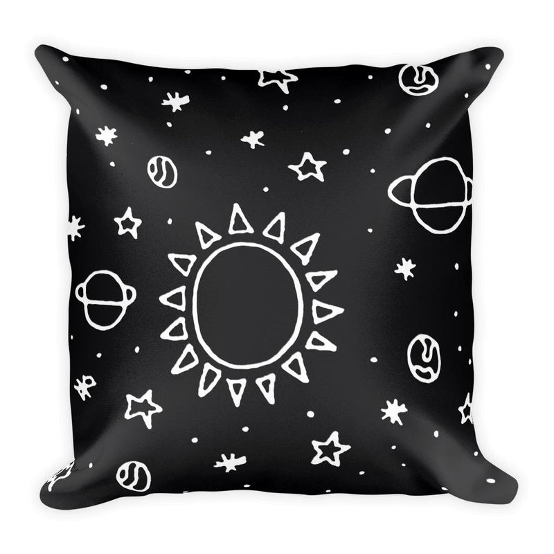 Planets Hand Drawn Square Pillow - Hipsters Wonderland - Tumblr Clothing - Tumblr Accessories- Aesthetic Clothing - Aesthetic Accessories - Hipster's Wonderland - Hipsterswonderland