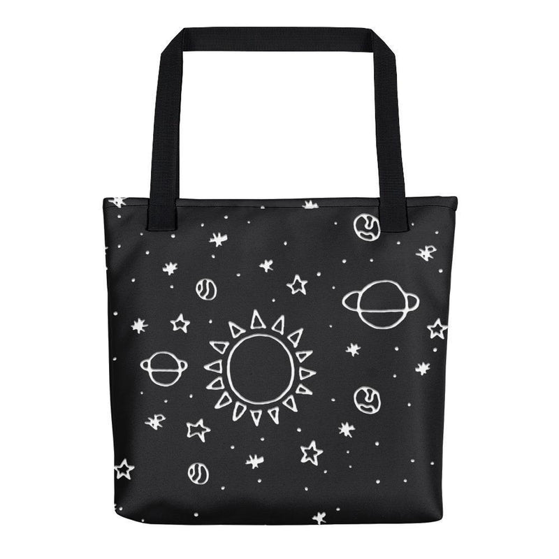 Planets Hand Drawn Tote Bag - Hipsters Wonderland - Tumblr Clothing - Tumblr Accessories- Aesthetic Clothing - Aesthetic Accessories - Hipster's Wonderland - Hipsterswonderland