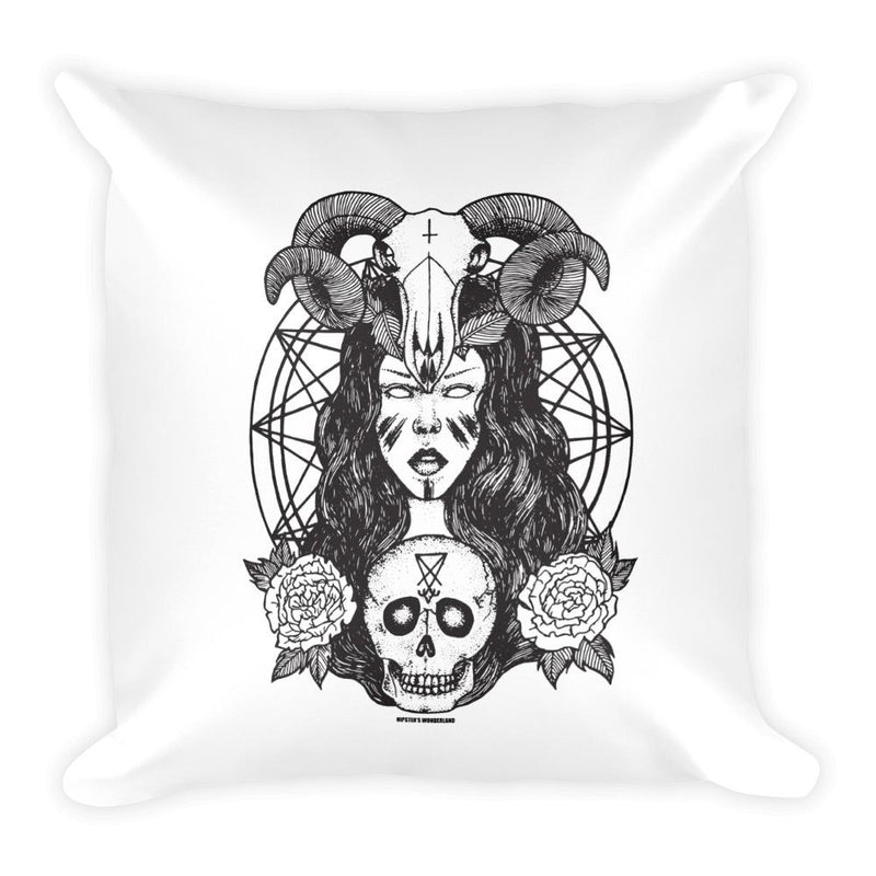 Satanic Princess Square Pillow - Hipsters Wonderland - Tumblr Clothing - Tumblr Accessories- Aesthetic Clothing - Aesthetic Accessories - Hipster's Wonderland - Hipsterswonderland