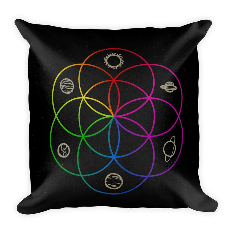 Seed of Life Square Pillow - Hipsters Wonderland - Tumblr Clothing - Tumblr Accessories- Aesthetic Clothing - Aesthetic Accessories - Hipster's Wonderland - Hipsterswonderland