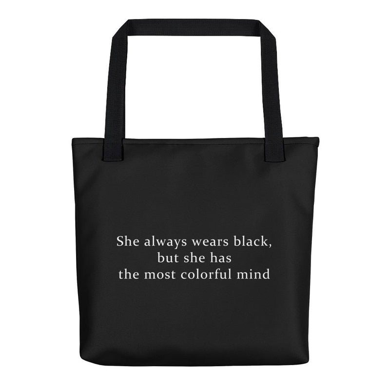 She Wears Black Tote Bag - Hipsters Wonderland - Tumblr Clothing - Tumblr Accessories- Aesthetic Clothing - Aesthetic Accessories - Hipster's Wonderland - Hipsterswonderland