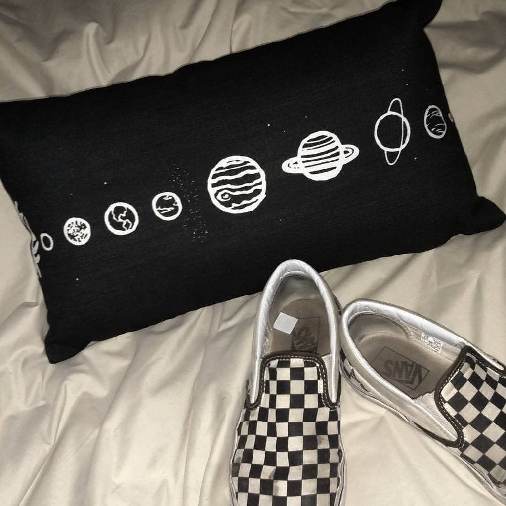 Solar System Rectangular Pillow - Hipsters Wonderland - Tumblr Clothing - Tumblr Accessories- Aesthetic Clothing - Aesthetic Accessories - Hipster's Wonderland - Hipsterswonderland