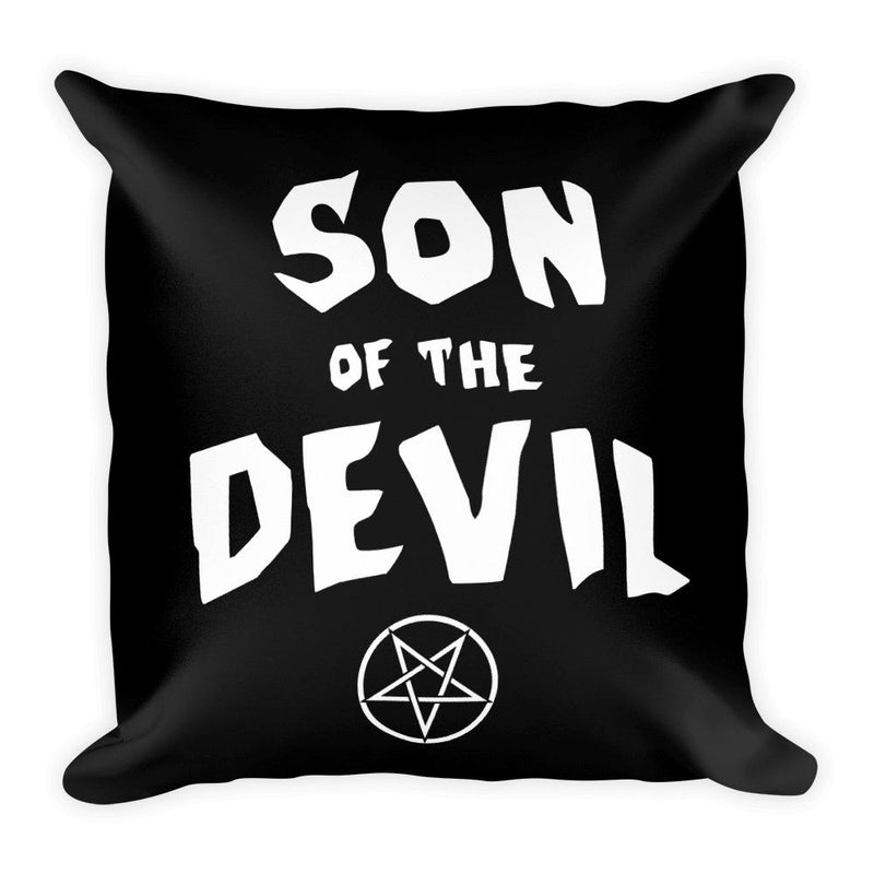 Son of the Devil Square Pillow - Hipsters Wonderland - Tumblr Clothing - Tumblr Accessories- Aesthetic Clothing - Aesthetic Accessories - Hipster's Wonderland - Hipsterswonderland