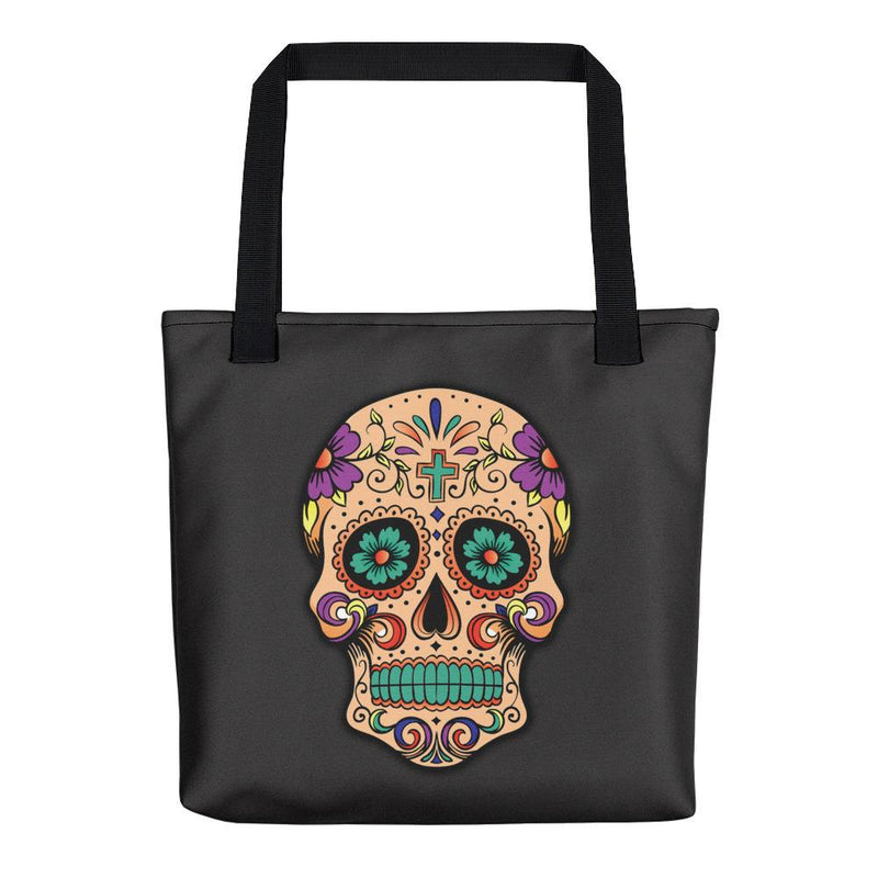 Sugar Skull Tote Bag - Hipsters Wonderland - Tumblr Clothing - Tumblr Accessories- Aesthetic Clothing - Aesthetic Accessories - Hipster's Wonderland - Hipsterswonderland