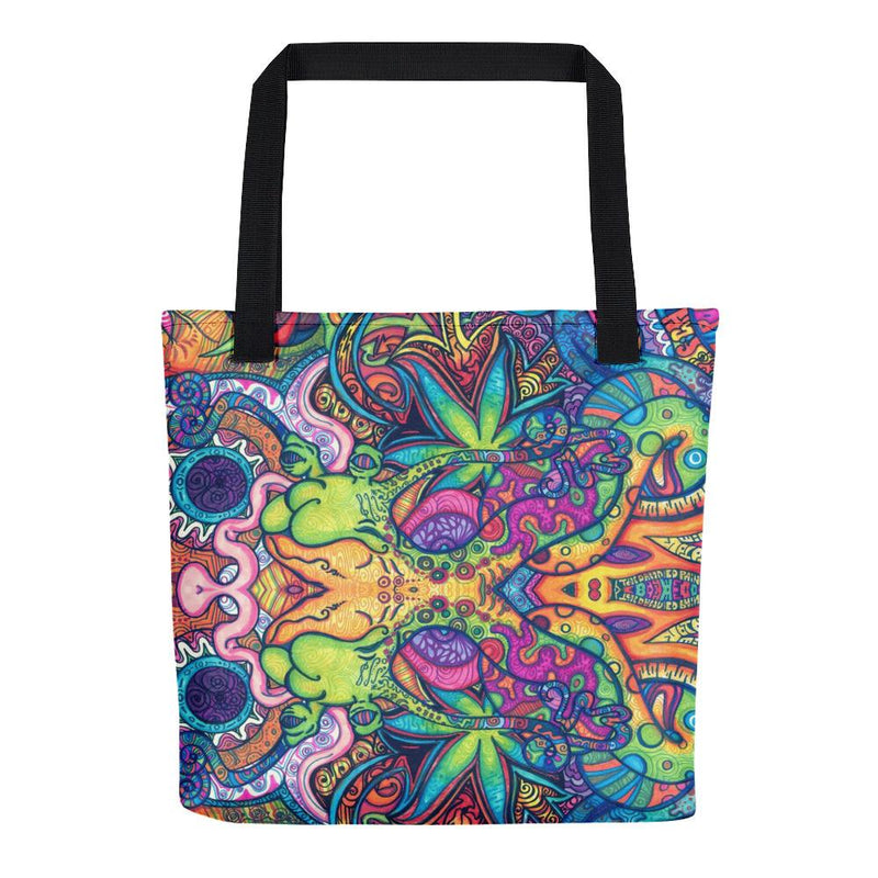 Trippy Weed Tote Bag - Hipsters Wonderland - Tumblr Clothing - Tumblr Accessories- Aesthetic Clothing - Aesthetic Accessories - Hipster's Wonderland - Hipsterswonderland