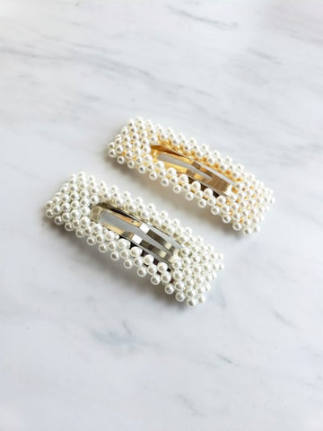 Pearl hair clips (set of 2)