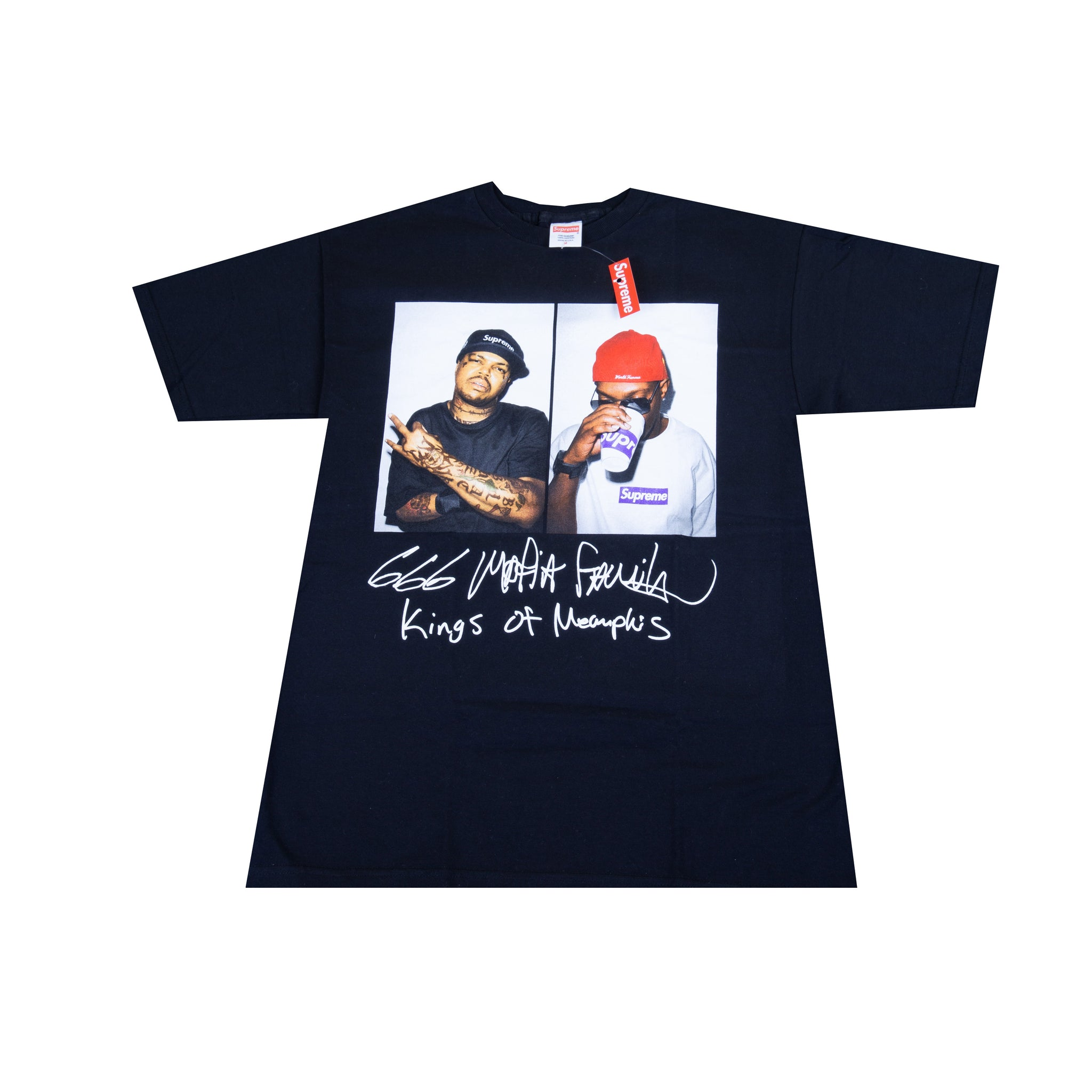 Supreme Black Three Six Mafia Tee