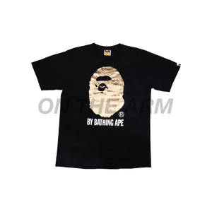 Bape Black Gold Foil Ape Head Tee