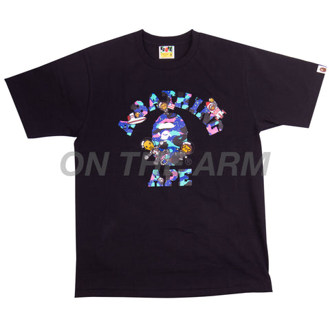 Bape Black Kid Cudi College Tee