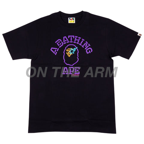 Bape Black Neon College Tee
