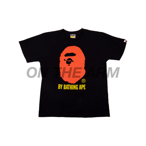 Bape Black/Orange Ape Head Tee