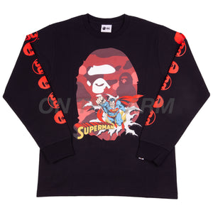 Bape Black Superman L/S