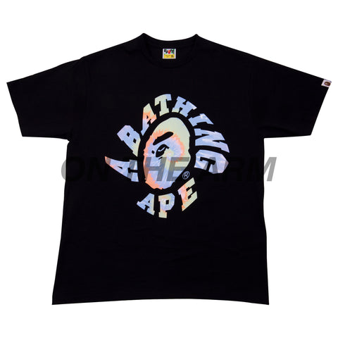 Bape Black Tie Dye College Logo Tee USED