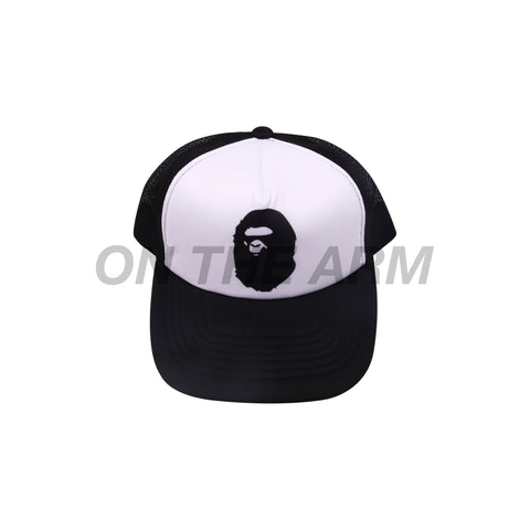 Bape Black Trucker Hat