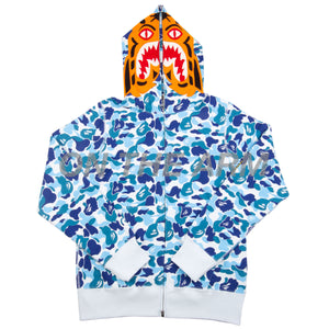 Bape Blue ABC Camo Tiger Full Zip