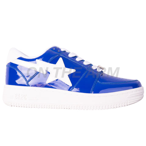 Bape Blue Patent Leather Bapesta