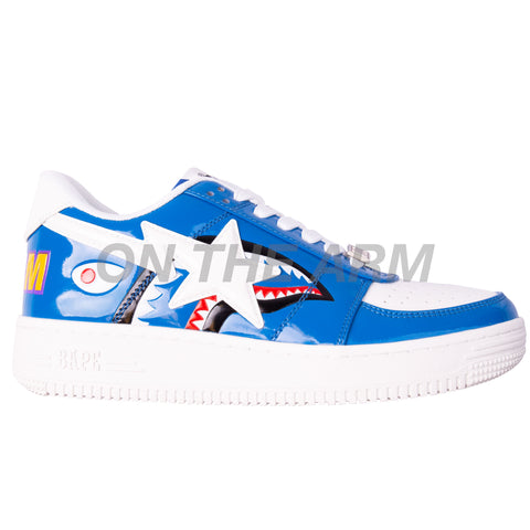 Bape Blue Shark Color Block Bapesta