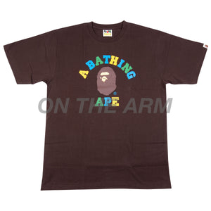 Bape Brown Colors College Tee