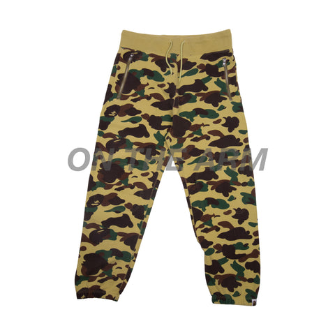 Bape Yellow First Camo Sweats