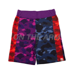 Bape Crazy Color Camo Shorts