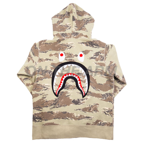 Bape Desert Camo Embroided Shark Full Zip USED