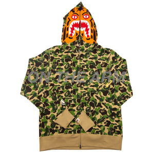 Bape Green ABC Camo Tiger Full Zip