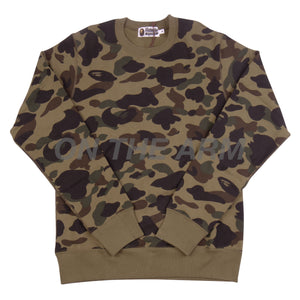 Bape Green First Camo Crew