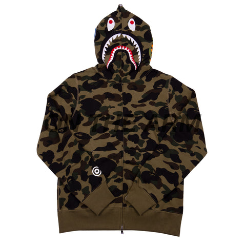 Bape Green First Camo Shark Full Zip