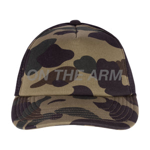 Bape Green First Camo Trucker Hat