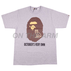 Bape Grey OVO Ape Head Tee