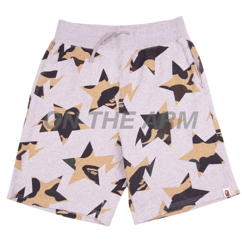 Bape Grey/Green First Camo Sta Shorts USED