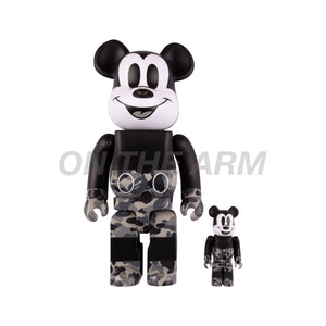 Bape Mickey Bearbrick 400% & 100% Set