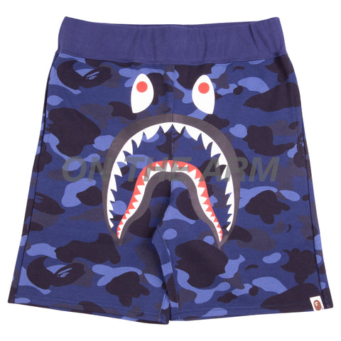Bape Navy Camo Shark Shorts