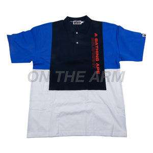 Bape Navy Color Blocked Polo