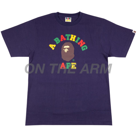 Bape Navy Colors College Tee