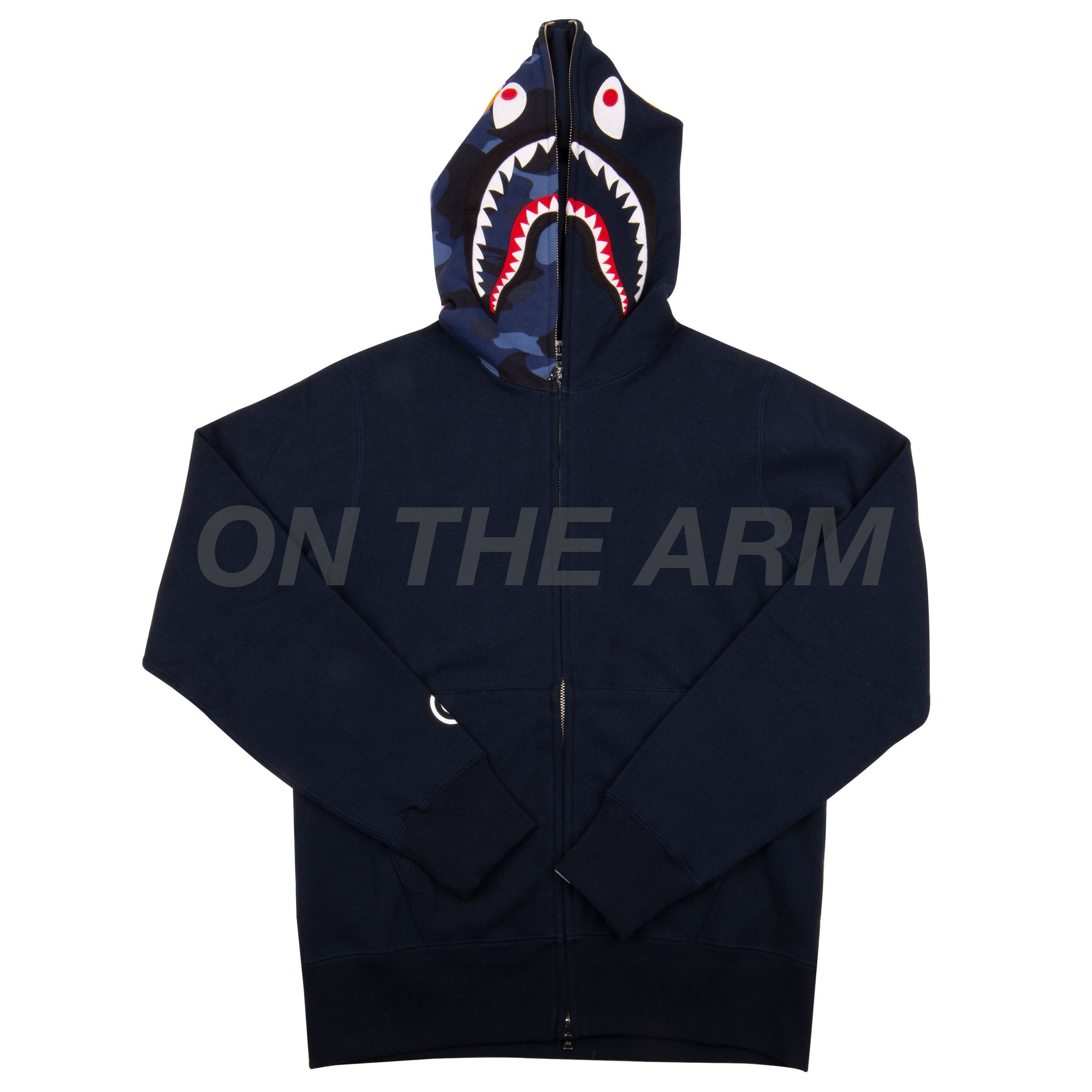 Bape Navy Half Camo Shark Full Zip