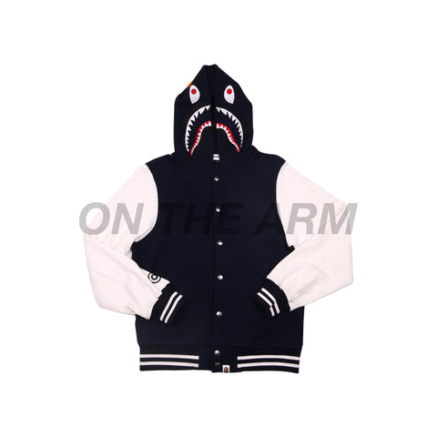 Bape Navy Shark Varisty Hooded Jacket