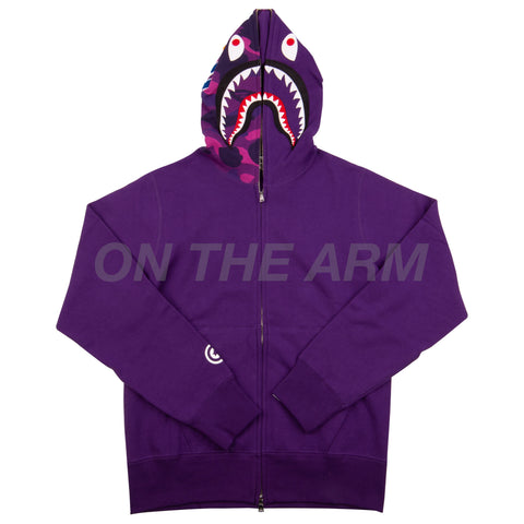 Bape Purple Half Camo Shark Full Zip