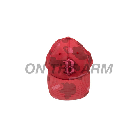 Bape Red Camo Fitted Hat