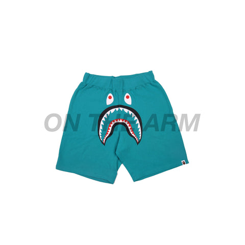 Bape Teal Shark Shorts