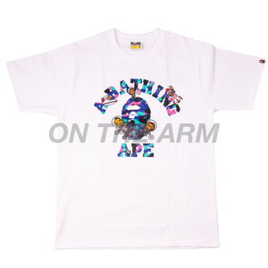 Bape White Kid Cudi College Tee