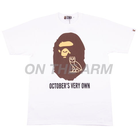 Bape White OVO Ape Head Tee
