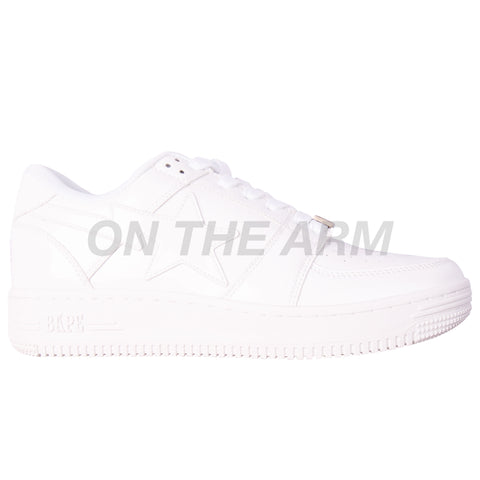 Bape White Patent Leather Bapesta
