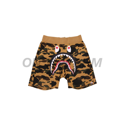 Bape Yellow Camo Shark Shorts