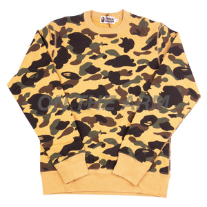 Bape Yellow First Camo Crew