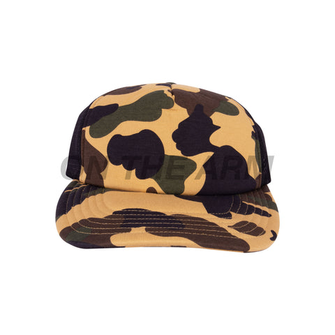 Bape Yellow First Camo Mesh Hat