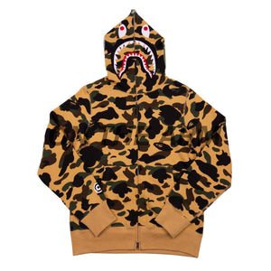 Bape Yellow First Camo Shark Full Zip