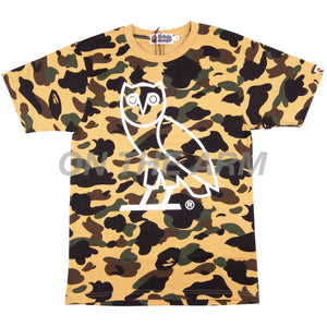 Bape Yellow First Camo OVO Owl Tee