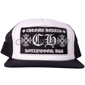 Chrome Hearts Black/White Trucker Hat